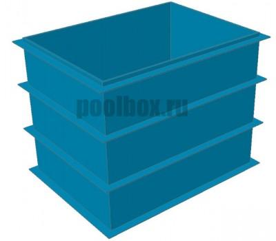 Купель для бани, 1,5 х 0,8 х 1,5 м., из полипропилена (пластика), PoolBox