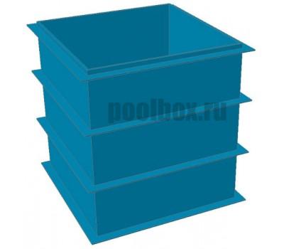 Купель для бани, 1,5 х 1,5 х 1,5 м., из полипропилена (пластика), PoolBox