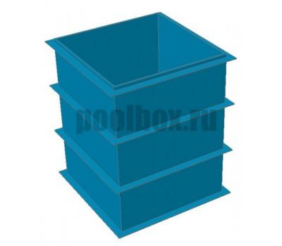 Купель для бани, 1,5 х 1,5 х 1,8 м., из полипропилена (пластика), PoolBox