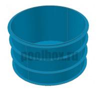 Купель для бани, круглая, д. 1,4 х 1,5 м., из полипропилена