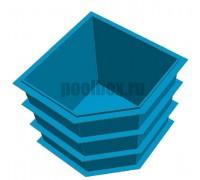 Полипропиленовая купель 1,5 х 1,5 х 1,5 м. с вырезом
