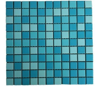Мозаика стеклянная Aquaviva Jamaika синий микс