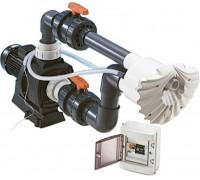 Противоток для бассейна (КА250М-50 м3/ч 220В 2.5 кВт) (плитка) HIDROJET JSH-40 (комплект)
