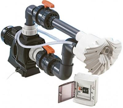 Противоток для бассейна (КА300Т-54 м3/ч 380В 3.0 кВт) (универсал.) HIDROJET JSL-45 (комплект)