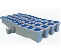 Решетка переливная цветная волна Anti Slip 200 х 26.5 мм синий DE2720B Emaux