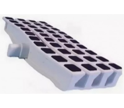 Решетка переливная цветная волна Anti Slip 250 х 26.5 мм черный DE2725W Emaux