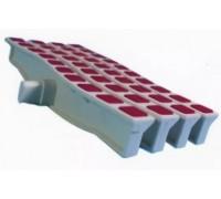 Решетка переливная цветная волна Anti Slip 250 х 26.5 мм красный DE2725W Emaux