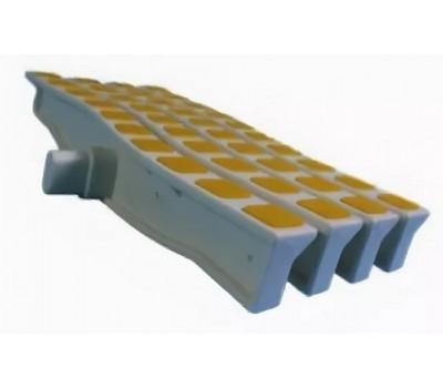 Решетка переливная цветная волна Anti Slip 250 х 26.5 мм желтый DE2725W Emaux