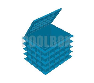 Технический приямок из полипропилена, 1,65*1,4*1,2 м., с крышкой
