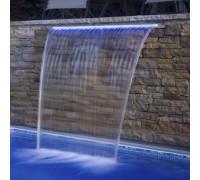 """Водопад """"Стеновой"""" (600 мм.) Aquaviva PB 600 с LED подсветкой (фланец 150-230 мм.)"""