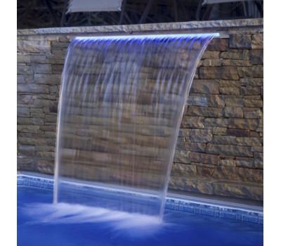 "Водопад пластиковый ""Стеновой"" (300 мм.) Aquaviva PB 300 с LED подсветкой (фланец 25-230 мм.)"