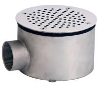 Слив донный (плитка) д.165 мм. (круг), СД.60.1, из нерж. стали