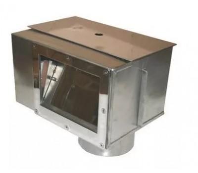Скиммер из нерж. стали (универсал) A.S-1.D с переливом и камерой автодолива М.S1.2