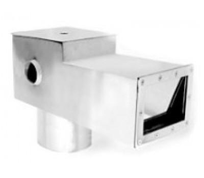 Скиммер для бассейна V 15 литров удлиненный из нержавеющей стали, (универс.), АТ 05.02