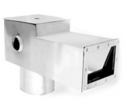 Скиммер для бассейна V 25 литров из нержавеющей стали, удлиненный, с переливом, (универс.), АТ 05.10